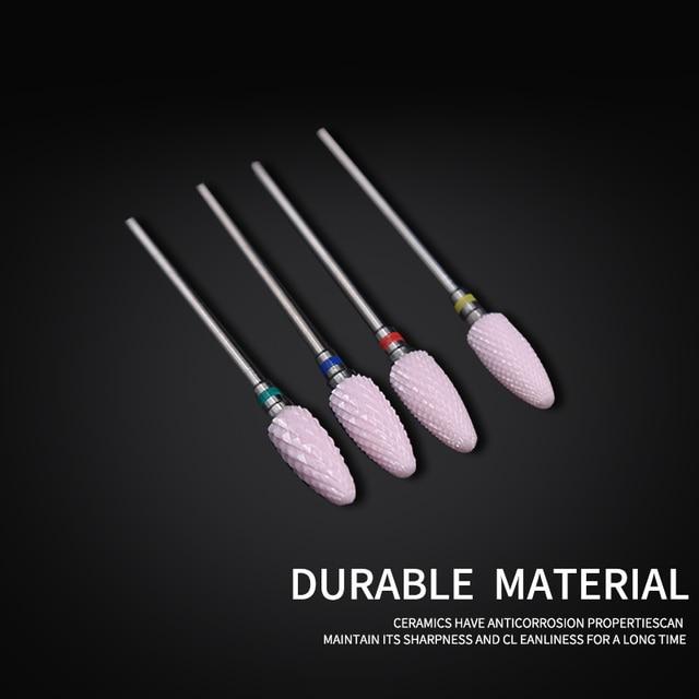 Ceramic Nail Cutter Nail Drill Bit Ceramic Cutters For Manicure Machine Diamond Cutter for Manicure Milling Cutter for Pedicure 5