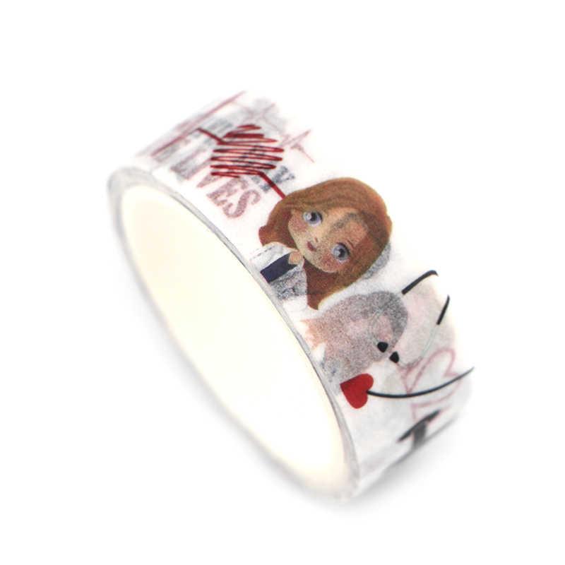 PC330 cinta adhesiva Washi para doctor nurse, conjunto de cintas para TV, pegatina decorativa DIY para álbum de recortes, cinta adhesiva para agenda, suministro de papelería