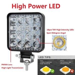Image 2 - OKEEN 4pcs Car LED Bar Worklight 48W Offroad Work Light 12V Light Interior LED 4x4 LED Tractor Headlight Spotlight for Truck ATV