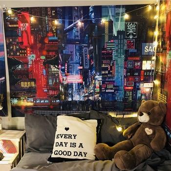 Tapiz de Color nórdico para decoración de Dormitorio, tapiz de algodón hecho...