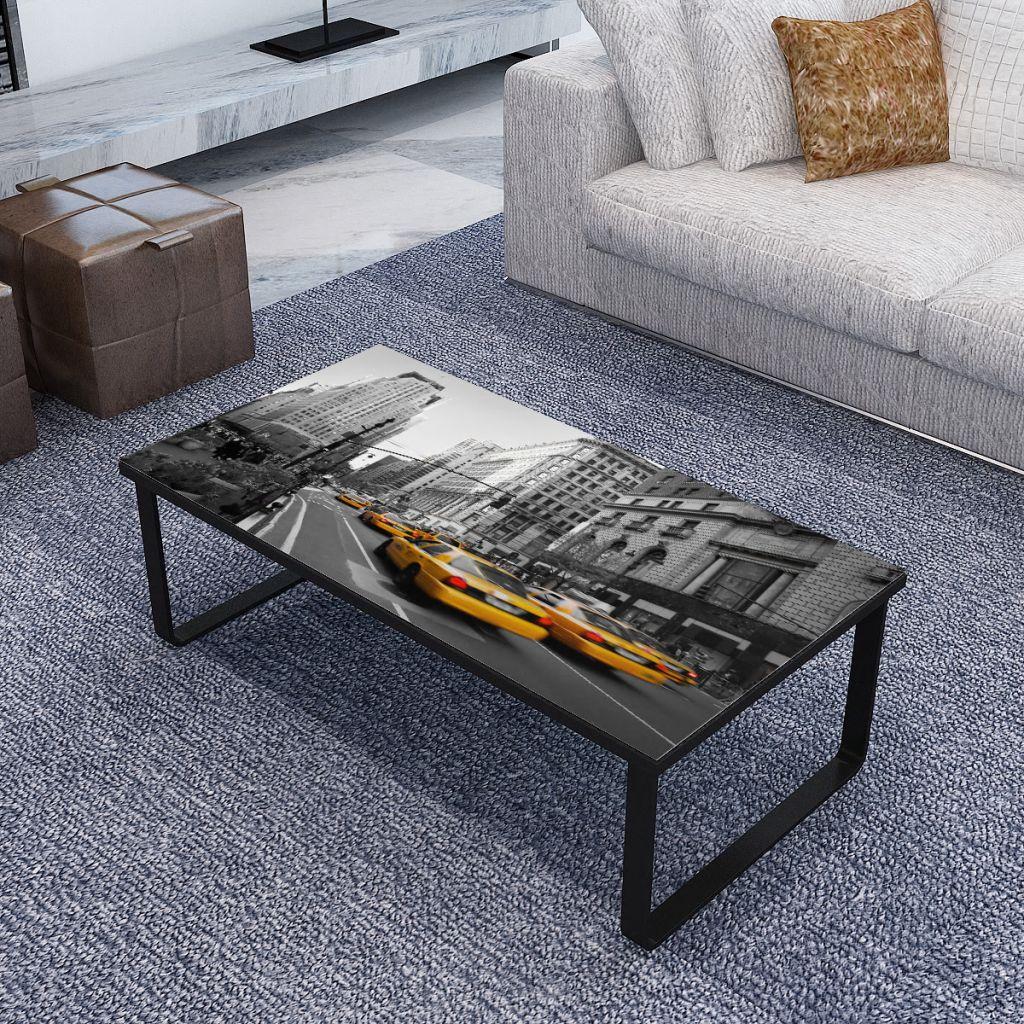 VidaXL Coffee Table With Glass Top Rectangular