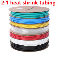 1 Meter heat shrink tube transparent Clear shrinkable tubing Wrap Wire kits 2:1 heat shrink tube Wrap Wire Sell Connector