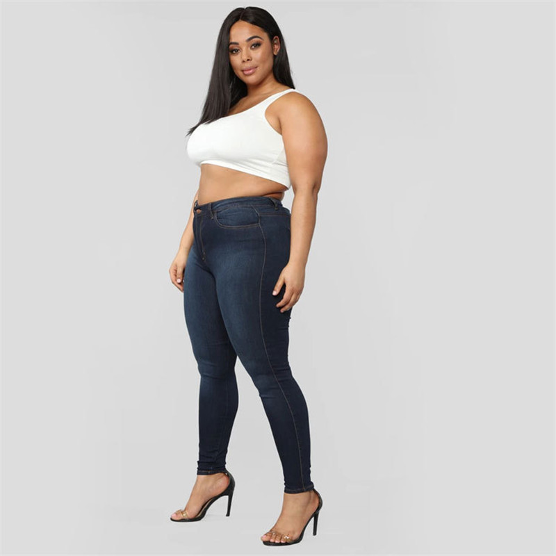 Plus size jeans XL-5XL women's high waist skinny denim jeans casual high stretch pencil pants drop shipping 2020 new arrival