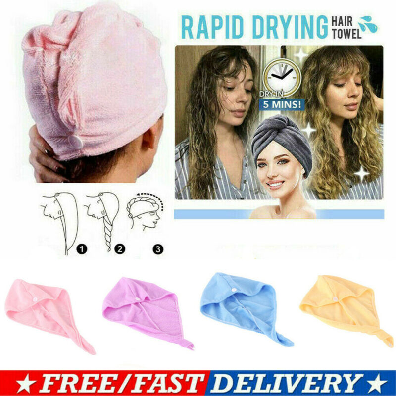 Soft Hair Towel Cap Rapid Drying Hair Towel Thick Absorbent Shower Cap 60 x 25 cm Solid Color Towel  Bath Wrap Bathing Tools