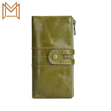 Genuine Leather Vertical Section Wallet More Function Mobile Phone Wallet Rfid Long Wallet