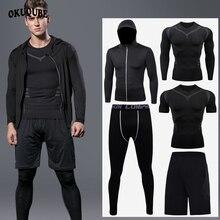 Männer Sportswear Reflektierende Zipper Hoodie Trainingsanzug Mann Elastische Atmungs Jogging Training Fitness Gym Kleidung Läuft Sportswear