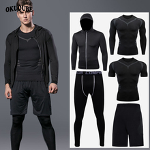 Men Sportswear Reflective Zipper Hoodie Tracksuit Man Elastic Breathable Jogging Training Fitness Gym Clothes Running Sportswear