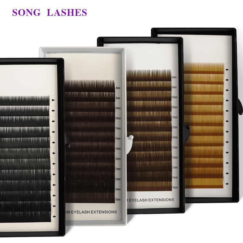 SONG LASHES  High Quality Eyebrown Extensions False Eyebrow 12 Lines Per Tray