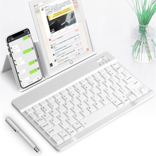 Ultra-Slim Bluetooth Wireless Keyboard For Iphone Ipad Android Tablet PC Phone For Huawei M6 Universal Rechargeable Keyboard