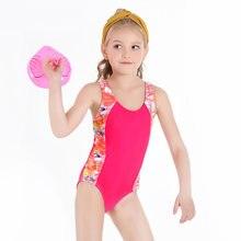 Купальный костюм для девочек одежда купания соревнований пляжная