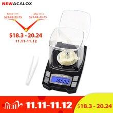 NEWACALOX 50g/100g x 0.001g USB טעינת סולם תכשיטי LCD הדיגיטלי כיס דיוק אלקטרוני בקנה מידה מרפא מעבדה מאזן לשקול