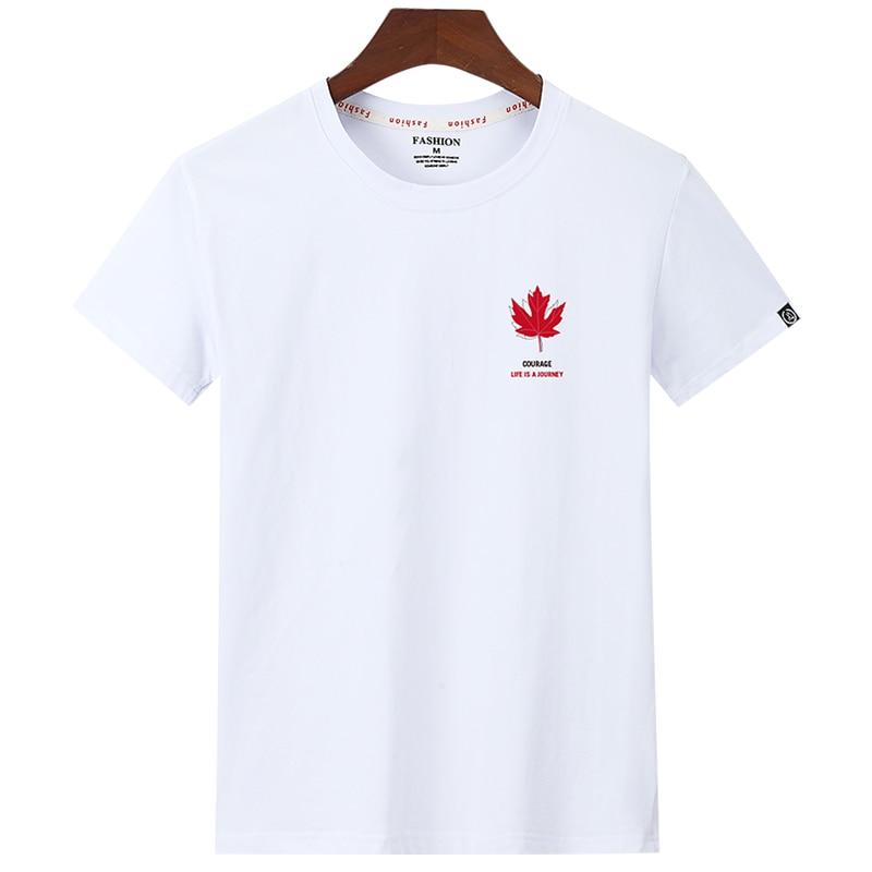2020 New O-Neck Short Sleeve Men's T-Shirt Fashionable Men's Maple Leaf Print Cotton T-Shirt Men's High Quality Casual T-Shirts