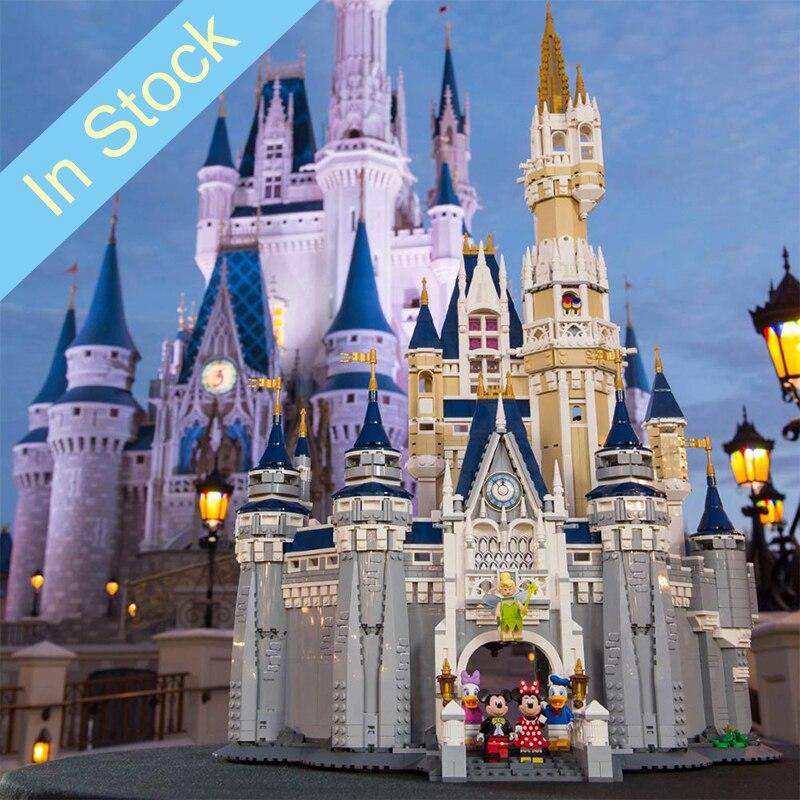 In stock 16008 4080Pcs City Street View Series Cinderella Princess Castle Building Blocks Bricks Kids Toys Christmas gift 71040