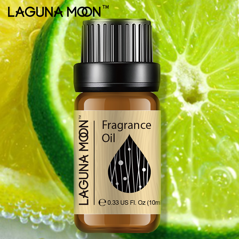 Lagunamoon Lemon & Lime Fragrance Oil 10ml Lily Dewberry Honeysuckle Rosemary Plant Oil Black Orchid Aromatherapy Diffusers