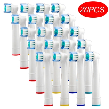 Wholesale 20pcs Replacement Toothbrush Heads For Braun Oral B Sensitive Gum Care Electric Toothbrush Brush Heads For OralB 8pcs replacement electric toothbrush heads for braun oral vitality brush heads nozzles for tooth brush sensitive clean