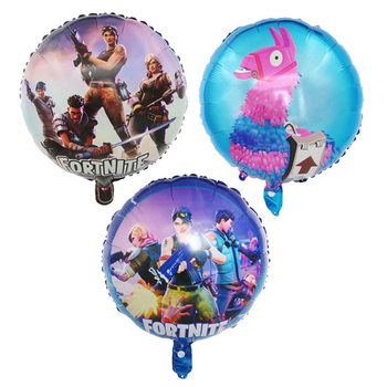 3pcs Fortnite Game Foil Balloon 18 Inch fortress night Esports Carnival Game Party Decoration Balloon reusable Kid Birthday Gift 1