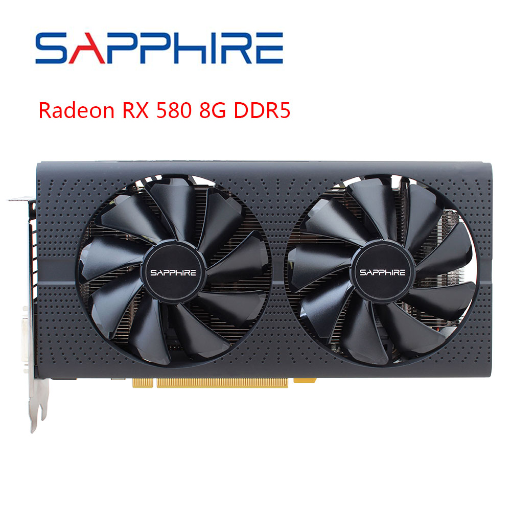 SAPPHIRE AMD RX580 Video Card Radeon RX 580 8GB GDDR5 256bit PCI Desktop PC Gaming Graphics Card For Gaming Computer Used Card