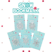 Marcapáginas de flores de Metal, libro de copo de nieve de acero inoxidable, punto de libro como regalos de navidad 30 unids/lote