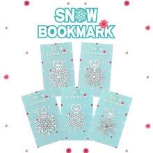 Metalen Bloem Bladwijzers Rvs Snowflake Boek Pagina Marker Als Kerstcadeaus 30 Stks/partij