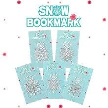 מתכת פרח סימניות נירוסטה Snowflake ספר סמן דף כמו חג המולד מתנות 30 יח\חבילה