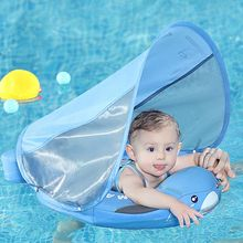 Mambobaby Non Inflatable Baby Swimming Float Bathtub Pool Accessories Toys Swimming Ring Floats Infant Floater Swim Trainer
