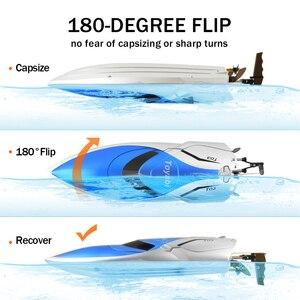 Image 4 - Barco RC 30 km/h lancha rápida de alta velocidad 4 canales 2,4 GHz Radio Control H106 barco remo juguetes modelo para niños y adultos