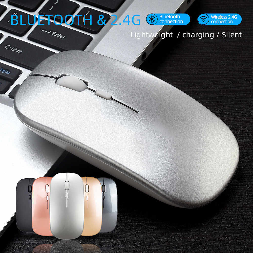 人間工学光学式マウス M90 充電式ワイヤレス BT 5.0 + 2.4 グラム USB デュアルモードゲーミングマウス 1600 Dpi マウス pc のラップトップ мышь