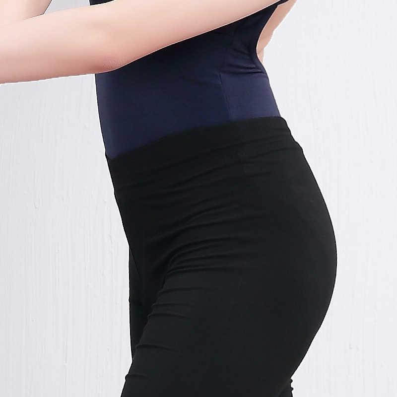 Bale dans pantolon kadın kızlar rahat spor siyah pamuk jimnastik parlama pantolon