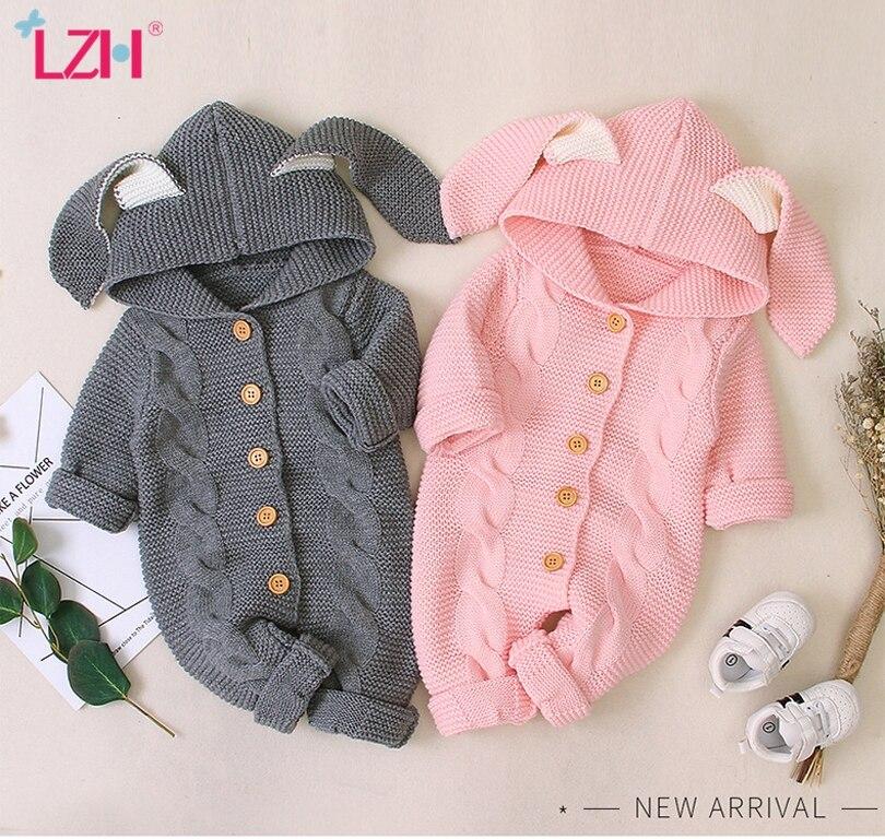 Осенняя одежда для новорожденных, кардиган с капюшоном, детские комбинезоны, одежда для маленьких девочек и мальчиков, модный костюм для младенцев, детский вязаный комбинезон для малышей 1
