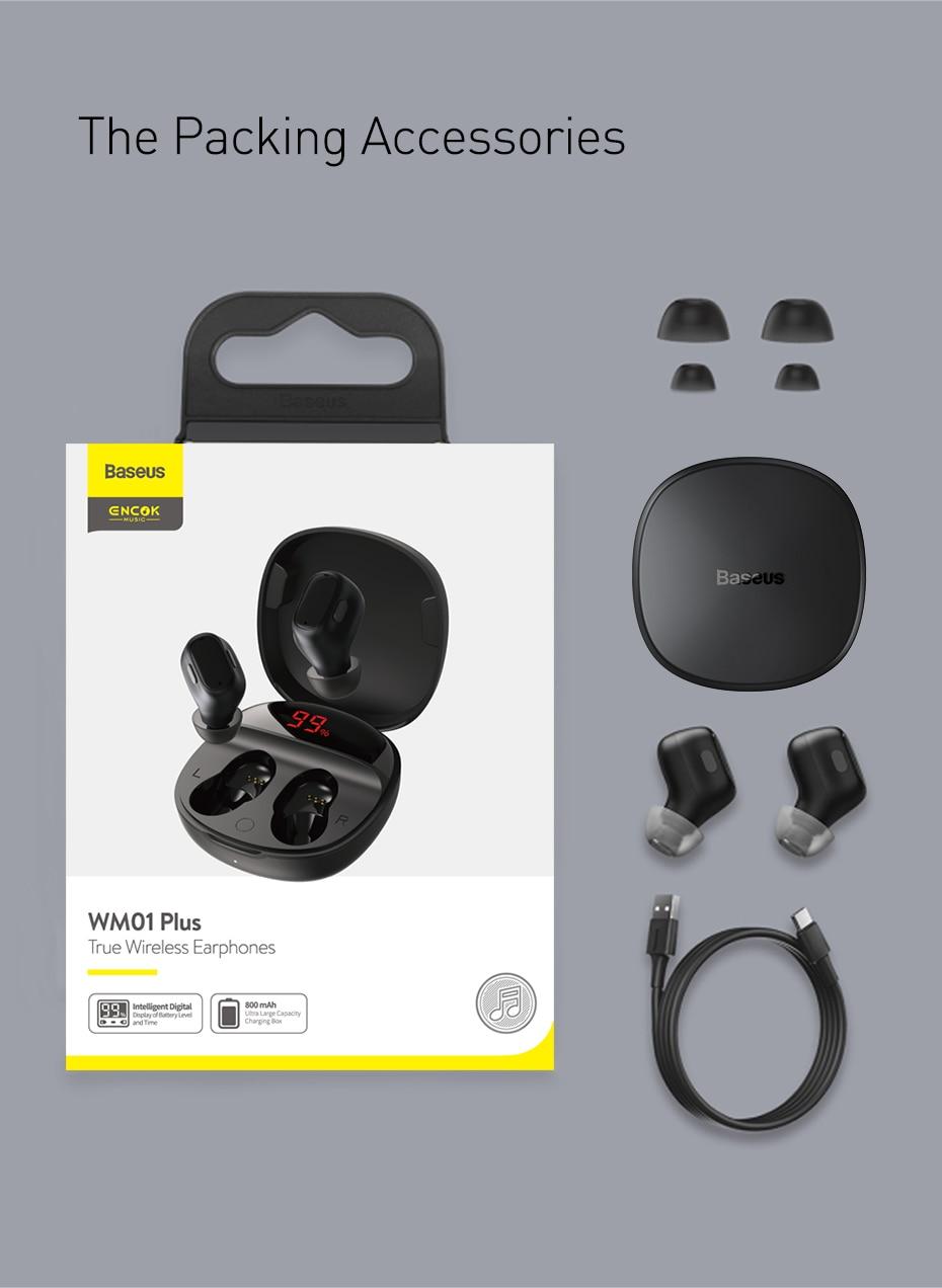 Baseus Encok WM01 Plus TWS True Wireless Earphones 13
