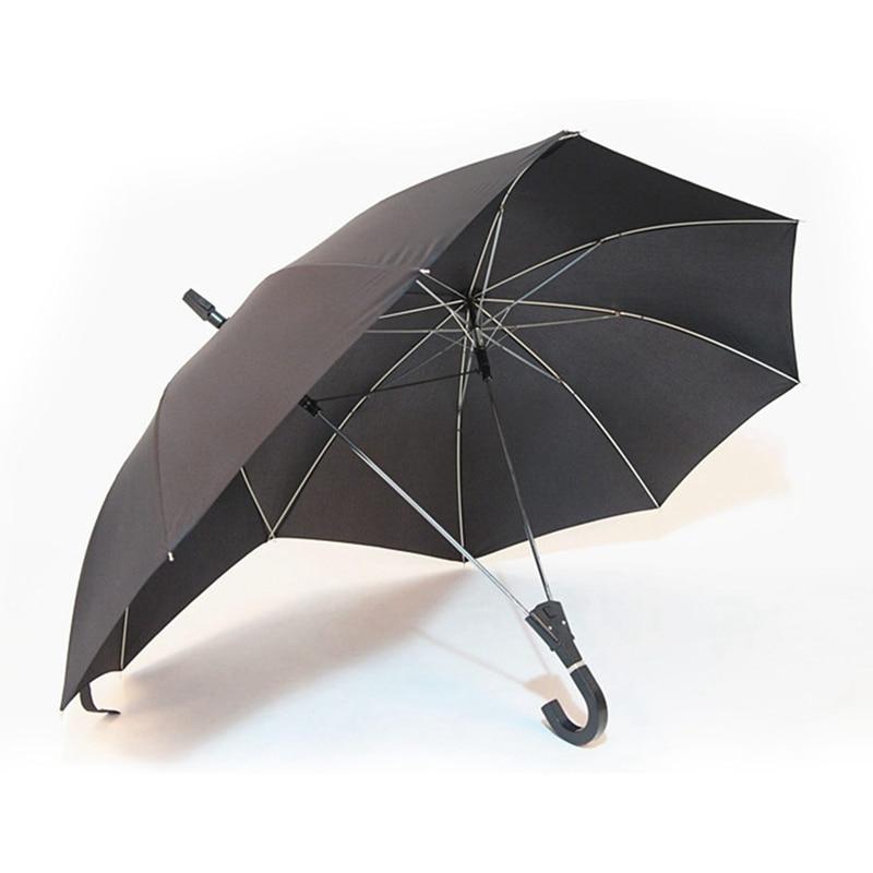 Креативный модный двухполюсный парный зонтик, чистый цвет, полуавтоматический высококачественный деловой зонт, Двойной Топ, соединенный з...,