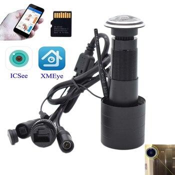 цена на TF Card WIFI Audio Door Eye Hole Home 1080P 1.78mm Wide Angle FishEye Lens Network Mini Peephole wifi Door IP Camera P2P icsee