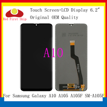 10Pcs/lot Original For Samsung Galaxy A10 A105 A105F SM-A105F LCD Display Touch Screen Digitizer Assembly Replacement A10 LCD for samsung galaxy alpha g850 lcd display touch digitizer assembly free dhl ups ems black gray white hq 100% warranty 10pcs lot