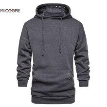 Miicoopie 2019 New Arrival Mens Hoodie Solid Pullover Sweatshirt Fashion Street Wear