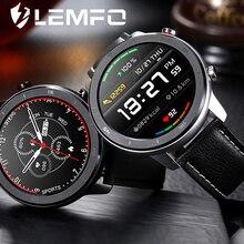 LEMFO-reloj inteligente DT78 para hombre, deportivo IP68, de negocios, redondo, completamente táctil y con Control de la salud por Bluetooth