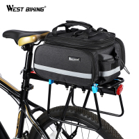 WEST BIKING Bicycle Bags Large Capacity Waterproof Cycling Bag Mountain Bike Saddle Rack Trunk Bags Luggage Carrier Bike Bag
