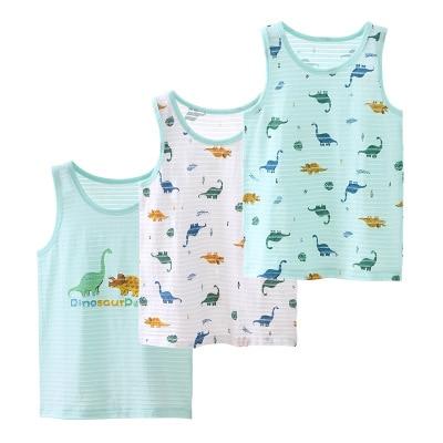 VIDMID 3pcs/lot Baby Children vest summer boys Girls tanks t-shirt Cotton tank sleeveless kids boy cartoon beach clothes 7010 06 4