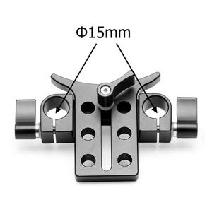 Image 3 - 15MM téléobjectif Support Support Support Support adaptateur pour 5D3 5D2 SLR DSLR caméras Photo Studio plate forme Rail tige suivre le système de mise au point