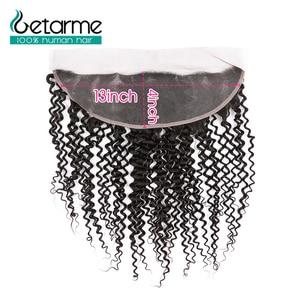 Image 4 - Gemarme extensiones de cabello humano rizado 13x4 con cierre Frontal de encaje, cabello humano Remy brasileño, con mechones