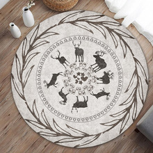 Non-Slip-Mat Rugs Round-Carpet Bedroom Living-Room Water-Absorption Modern Chic-Pattern