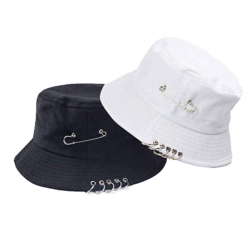 Helisopus Folding Fishing Hat Summer Autumn Outdoor Unisex Iron Ring Bucket Hat Fashion Solid Color Sun Hat For Men's Gift