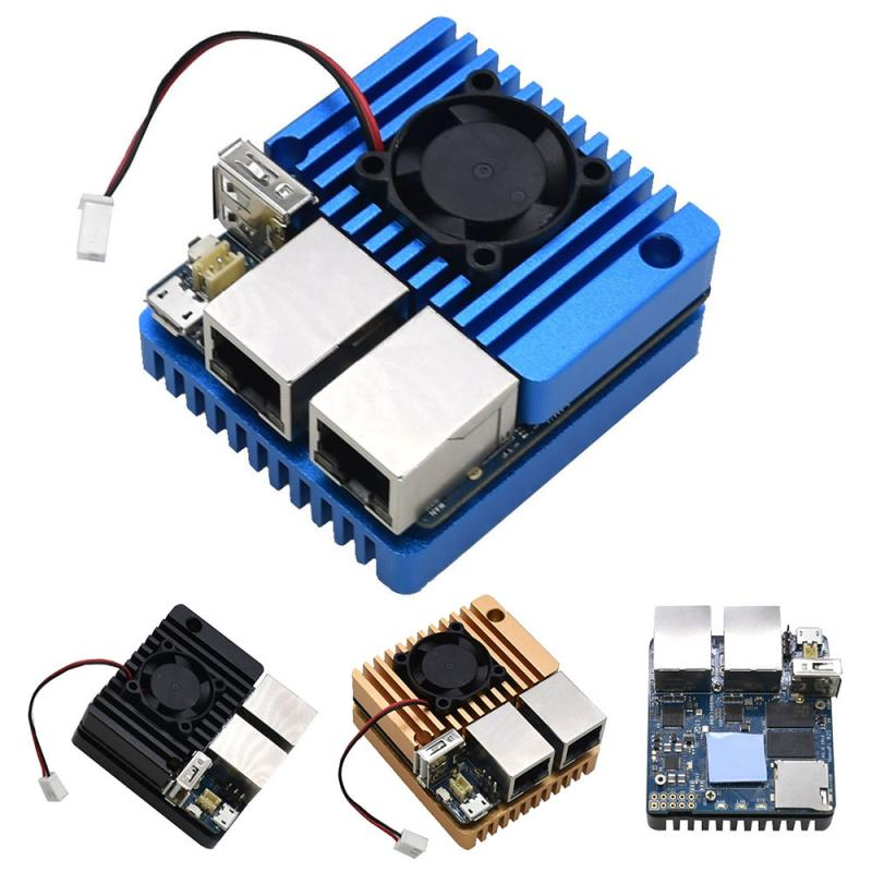 Mini Router Dual Ethernet Ports 32G Flash Memory Built-in English System W/ Power Supply NanoPi R2S