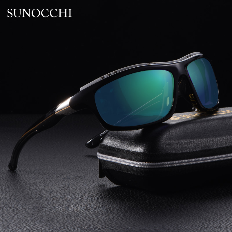 2019 Mens Polarized  Goggles Sports Driving Sunglasses UV400 Fishing Men Tactical Sun glasses Steampunk For Male