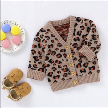 Sweter dziecięcy Leopard kurtka jesienny dzianinowy sweter chłopięcy sweter dziecięcy sweter wełniany sweter niemowlęcy sweter dziecięcy bawełniany tanie i dobre opinie dibeberabbit W wieku 0-6m 7-12m 13-24m 25-36m Unisex W stylu Preppy CN (pochodzenie) COTTON baby clothes Pasuje prawda na wymiar weź swój normalny rozmiar