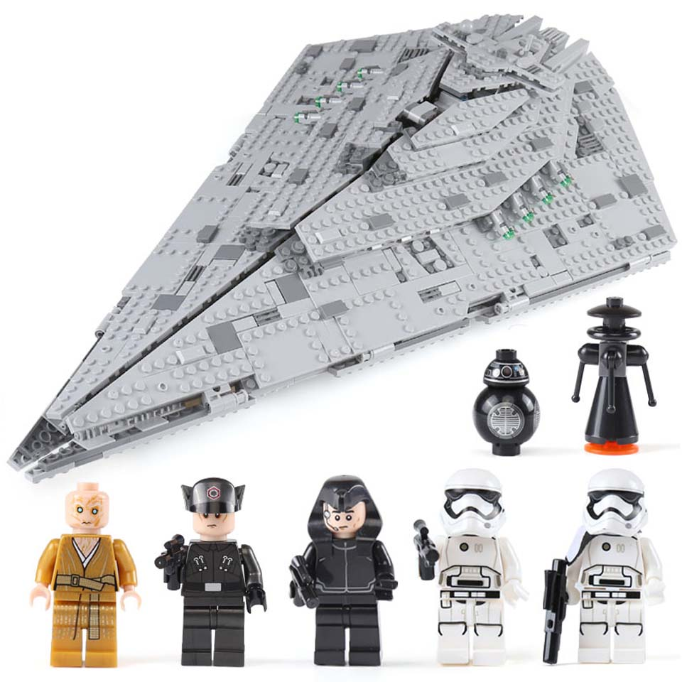 2019 NEW Hot 10901 First Order Star Destroyer Model Building Block Bricks Toys Compatible With Legoinglys Star Wars 75190