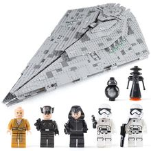 2019 NEW Hot 10901 First Order Star Destroyer Model Building Block Bricks Toys Compatible with legoinglys Star Wars 75190(China)