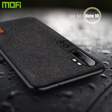 Untuk Xiaomi Mi Note 10 Pro Case Cover Mofi Asli Xio Mi Note 10 Global Shockproof Shell Topias Mewah Kain Silikon Case Belakang(China)