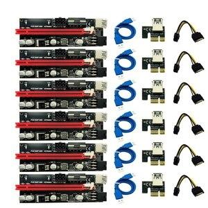 6 шт. новейший Ver009 Usb 3,0 Pci-E Riser Ver 009S Express 1X 4X 8X 16X расширитель переходника карта Sata 15Pin до 6 Pin кабель питания