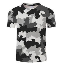 New 3D Print T shirt Men Women Camouflage Tshirt Summer Shor