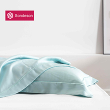 Sondeson Luxury Beauty 100% Silk Pillowcase 25 Momme Silky Healthy Skin Hair Embroidery Pillow Case For Women Men Free Shipping